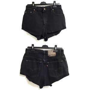 LEVI's Vintage High Rise Denim Shorts Black 30